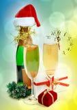 Composición del Año Nuevo Imágenes de archivo libres de regalías