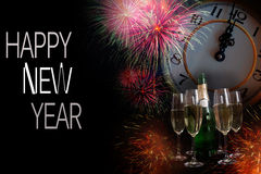 Composición 3 del Año Nuevo Fotos de archivo