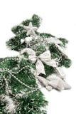 Composición del Año Nuevo con las estrellas y los candys de plata Imagen de archivo libre de regalías