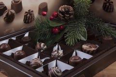 Composición del Año Nuevo con una taza de cacao y de pan de jengibre Fotografía de archivo