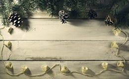 Composición del Año Nuevo de la Navidad Visión superior con el espacio de la copia Fotografía de archivo libre de regalías