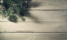 Composición del Año Nuevo de la Navidad Visión superior con el espacio de la copia Imagen de archivo