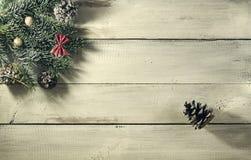 Composición del Año Nuevo de la Navidad Visión superior con el espacio de la copia Fotografía de archivo