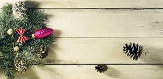 Composición del Año Nuevo de la Navidad Visión superior con el espacio de la copia Foto de archivo