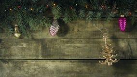 Composición del Año Nuevo de la Navidad Visión superior con el espacio de la copia Imagenes de archivo