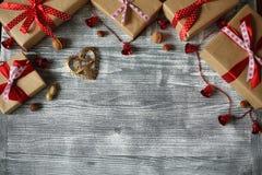Composición del Año Nuevo de los diversos ornamentos Fotografía de archivo libre de regalías