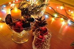 Composición del Año Nuevo y decoración de la Navidad Fotos de archivo