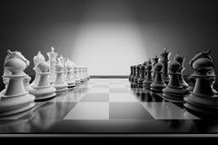Composición del ajedrez Imagenes de archivo