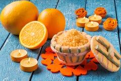 Composición del BALNEARIO de la fruta cítrica fotografía de archivo libre de regalías