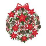 Composición del círculo de la Feliz Navidad y del Año Nuevo Fotos de archivo libres de regalías