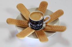 Composición del café Foto de archivo