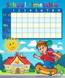 Composición 7 del calendario de la escuela Foto de archivo libre de regalías