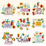 Composición del collage del entretenimiento del circo y del Funfair libre illustration