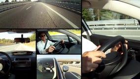 Composición del conductor almacen de metraje de vídeo