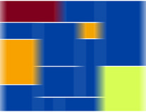 Composición del estilo de Mondrian foto de archivo