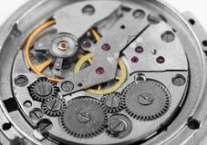 Composición del fondo del reloj mechanism Fotos de archivo libres de regalías