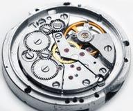 Composición del fondo del reloj mechanism Foto de archivo libre de regalías