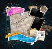 Composición del libro de recuerdos de la vendimia Fotos de archivo libres de regalías