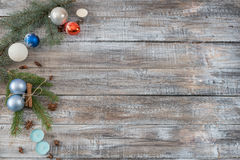 Composición del llano del día de fiesta del fondo de Navidad o del Año Nuevo hecha del Ch Imagen de archivo libre de regalías