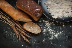 Composición del pan con trigo Imagen de archivo