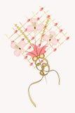 Composición del panel con las flores Fotografía de archivo