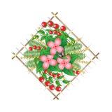 Composición del panel con las flores Foto de archivo libre de regalías