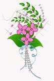 Composición del panel con las flores Imagenes de archivo