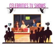 Composición del programa de televisión de las celebridades stock de ilustración