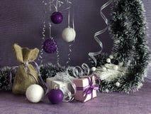 Composición del ` s de la Navidad y del Año Nuevo Foto de archivo libre de regalías