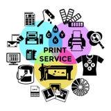 Composición del servicio de la impresión de CMYK stock de ilustración