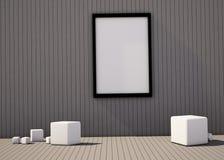 Composición del sitio de exposición de la geometría del arte y de la forma Imagen de archivo