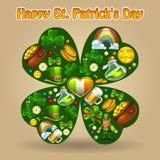 Composición del St Patricks Foto de archivo libre de regalías