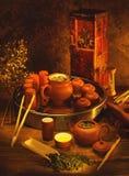 Composición del té Imagen de archivo