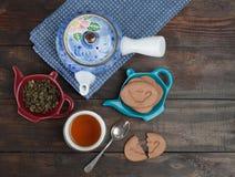 Composición del té de tarde Fotos de archivo