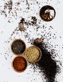 Composición del té en el estudio Foto de archivo libre de regalías