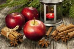 Composición del tiempo de la Navidad Foto de archivo libre de regalías