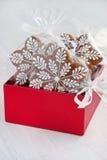 Composición del tiempo de la Navidad con las galletas Imagen de archivo