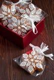 Composición del tiempo de la Navidad con las galletas Imágenes de archivo libres de regalías
