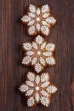 Composición del tiempo de la Navidad con las galletas Fotos de archivo