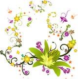 Composición del vector de las flores Foto de archivo libre de regalías