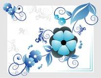 Composición del vector de las flores Imagen de archivo