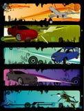 Composición del vector de los coches Fotos de archivo