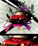 Composición del vector del coche stock de ilustración