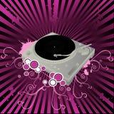 Composición del vector del mezclador de DJ Foto de archivo libre de regalías