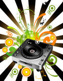 Composición del vector del mezclador de DJ Foto de archivo