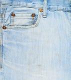 Composición delantera de los vaqueros del dril de algodón del bolsillo Foto de archivo libre de regalías