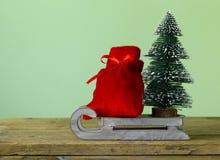 Composición divertida de la Navidad Imágenes de archivo libres de regalías