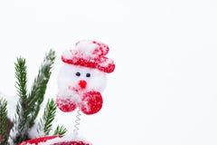Composición divertida del invierno con los accesorios de la Navidad Imágenes de archivo libres de regalías
