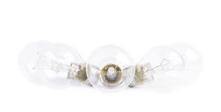 Composición eléctrica múltiple de los bulbos fotografía de archivo