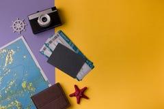 Composición en tema del viaje Imagen de archivo libre de regalías